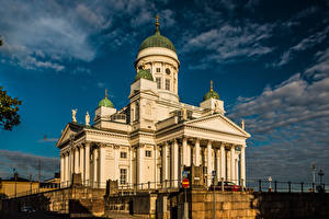 Images Finland Helsinki Cathedral Clouds Helsinki Cathedral Cities