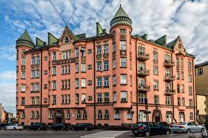 Wallpaper Finland Helsinki Houses Street Ihantola Cities