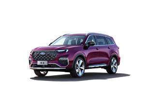 Bakgrunnsbilder Ford Crossover Fiolett Metallisk Hvit bakgrunn Equator Titanium, China, 2021 Biler