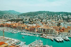 Hintergrundbilder Frankreich Schiffsanleger Haus Yacht Motorboot Nice Städte