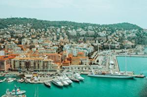 Fotos Frankreich Schiffsanleger Schiffe Jacht Nice, Alpes-Maritimes Städte