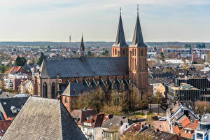 Pictures Germany Church Houses Towers Kleve, Stiftskirche