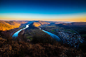 Picture Germany River Hill Mosel, Rheinland-Pfalz Nature