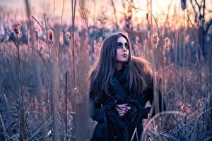 Images Gothic Fantasy Blurred background Makeup Glance  female