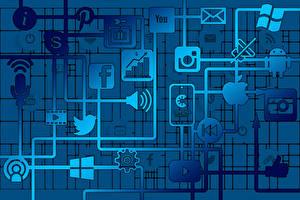 Wallpapers Internet Coronavirus Logo Emblem social networks