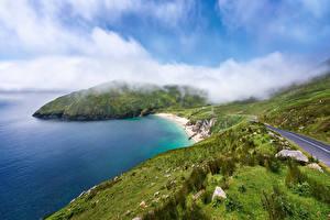 Hintergrundbilder Irland Küste Wege Wolke Achill Island