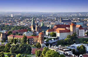 Image Krakow Poland Castles Cathedral From above Wawel Castle, Cathedral Saints Stanislaus and Wenceslas
