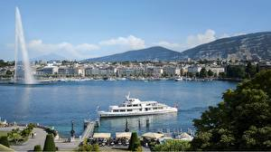 Images Lake Switzerland Riverboat Fountains Marinas Same-Do Fountain, Lake Geneva, Geneva Cities