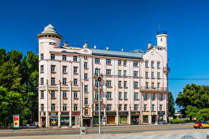Hintergrundbilder Lettland Haus Straße Riga