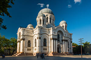 Pictures Lithuania Kaunas Church St. Michael the Archangel's Church