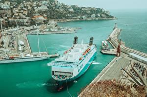 Bilder Seebrücke Frankreich Schiff Nice, Alpes-Maritimes Städte