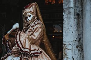 Bilder Maske Karneval und Maskerade Hand Handschuh