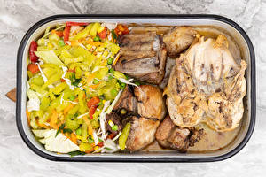 Images Meat products Vegetables Salads Roast Chicken Food