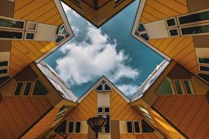 Bilder Niederlande Rotterdam Haus Wolke Cube Houses