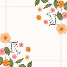 Bilder Gezeichnet Vorlage Grußkarte Blatt Blüte