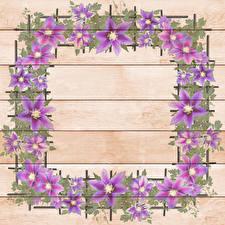 Fotos Gezeichnet Vorlage Grußkarte Bretter Blumen