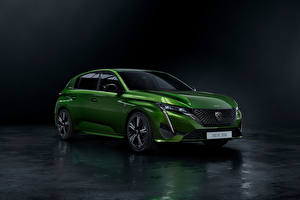 Pictures Peugeot Green Metallic Hybrid vehicle 308 HYBRID, Worldwide, 2021 Cars