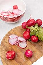 Picture Radishes Cutting board Sliced food Food