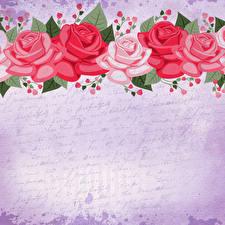 Hintergrundbilder Rose Gezeichnet Papier Vorlage Grußkarte Blüte