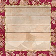 Fondos de Pantalla Rosas Tablones de madera Follaje Tarjeta de felicitación de la plant Ciudades imágenes