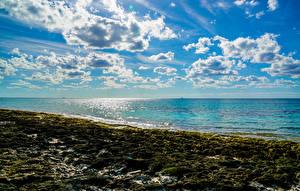 Desktop wallpapers Sea Coast Sky Clouds Nature
