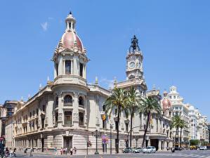 Fondos de Pantalla España Arecaceae Farola Calle City Hall, Valencia Ciudades imágenes