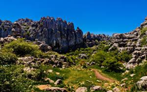 Fotos Spanien Gebirge Steine Felsen Malaga Natur