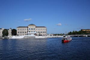 Photo Stockholm Sweden Riverboat Museums Cities