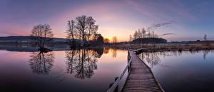Fonds d'écran Suisse Lac Photographie Ponts Matin Arbres  Nature