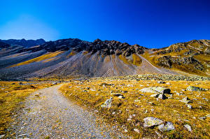 Picture Switzerland Mountain Stone Sky Alps  Nature