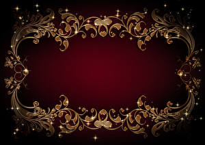 Picture Tracery Template greeting card Colored background