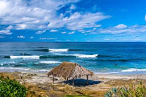 Hintergrundbilder Vereinigte Staaten Küste Kalifornien Strand Windandsea Beach Natur