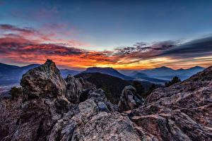 Desktop hintergrundbilder USA Berg Parks Felsen Rocky Mountain National Park Natur