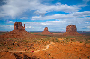 Pictures USA Park Crag Clouds Monument Valley Nature