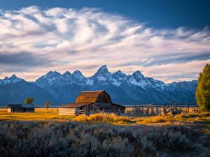 Hintergrundbilder USA Park Gebirge Wolke Grand Tetons National Park
