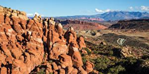 Fondos de Pantalla EE.UU. Parque Montañas Fotografía De Paisaje Roca Arches National Park, Utah Naturaleza imágenes