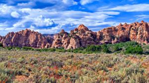 Fondos de Pantalla EE.UU. Parque Parque nacional Zion Roca Nube Kolob Canyon, Utah Naturaleza imágenes