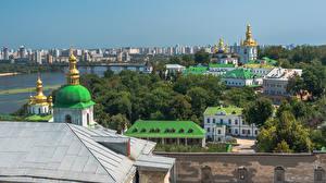 Pictures Ukraine Kiev Houses Monastery Church Kyiv Pechersk Lavra