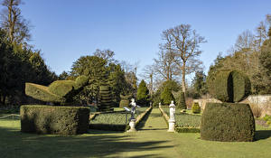 Fotos Vereinigtes Königreich Park Skulpturen Design Strauch Rasen Cliveden National Trust Natur