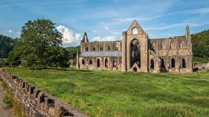 Bilder Vereinigtes Königreich Ruinen Wales Dorf Tintern Abbey Städte
