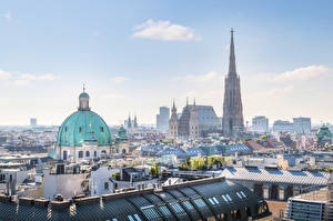 Wallpapers Vienna Austria Building Roof Domes St. Stephen's Cathedral Cities