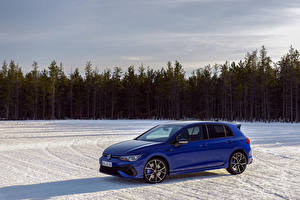 Photo Volkswagen Blue Metallic Estate car Snow Golf R, Worldwide, 2020 Cars