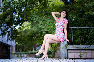 Image Asian Sitting Frock Legs Girls
