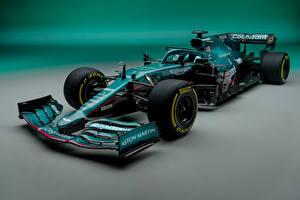 Hintergrundbilder Aston Martin Formula 1 Grün AMR21, 2021 Autos