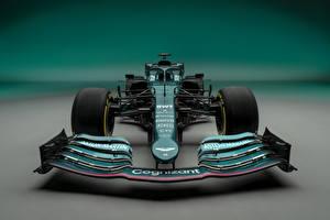 Fotos Aston Martin Formula 1 Grün Vorne AMR21, 2021 Autos