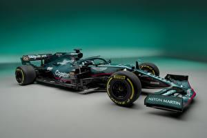 Bilder Aston Martin Formel 1 Grün Seitlich AMR21, 2021 auto