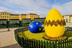 Photo Austria Sculptures Easter Primula Eggs 2 Fence