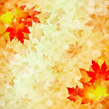 Pictures Autumn Painting Art Leaf Paper Template greeting card Acer