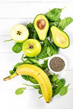 Bilder Avocado Bananen Äpfel Getreide Gesunde Ernährung das Essen