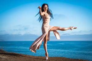Bilder Tanz Ballett Bein junge frau